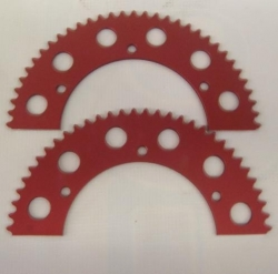 RLV Full Tooth Red Sprockets 35 Chain