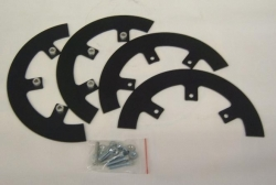 Aluminum sprocket guard kit 9.25 diameter - black anodize